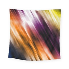 Colourful Grunge Stripe Background Square Tapestry (small) by Nexatart