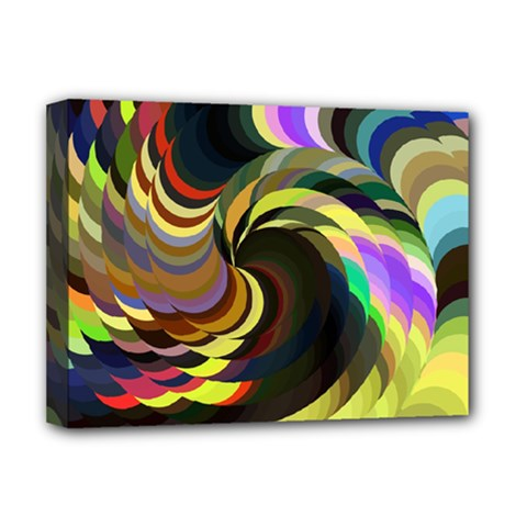 Spiral Of Tubes Deluxe Canvas 16  X 12   by Nexatart