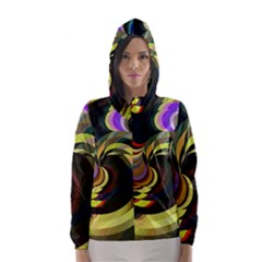 Spiral Of Tubes Hooded Wind Breaker (women)