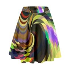 Spiral Of Tubes High Waist Skirt by Nexatart