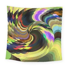 Spiral Of Tubes Square Tapestry (large) by Nexatart