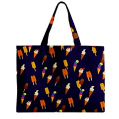 Seamless Cartoon Ice Cream And Lolly Pop Tilable Design Zipper Mini Tote Bag by Nexatart