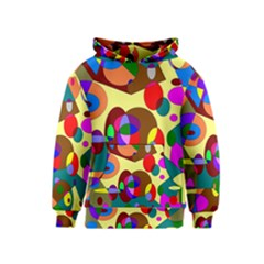 Abstract Digital Circle Computer Graphic Kids  Pullover Hoodie