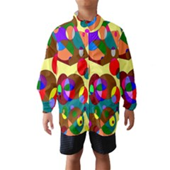 Abstract Digital Circle Computer Graphic Wind Breaker (kids)