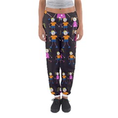 Kids Tile A Fun Cartoon Happy Kids Tiling Pattern Women s Jogger Sweatpants by Nexatart