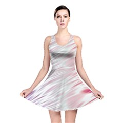 Fluorescent Flames Background With Special Light Effects Reversible Skater Dress
