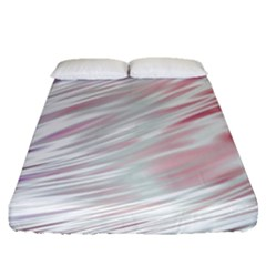 Fluorescent Flames Background With Special Light Effects Fitted Sheet (queen Size) by Nexatart