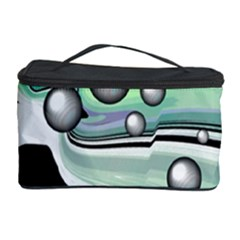 Small And Big Bubbles Cosmetic Storage Case by Nexatart