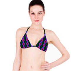 Quadrate Repetition Abstract Pattern Bikini Top