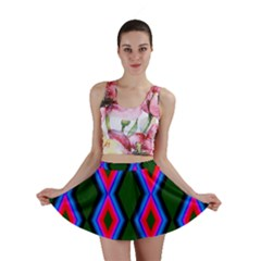 Quadrate Repetition Abstract Pattern Mini Skirt
