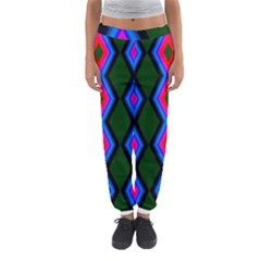 Quadrate Repetition Abstract Pattern Women s Jogger Sweatpants