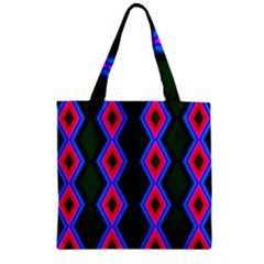 Quadrate Repetition Abstract Pattern Zipper Grocery Tote Bag by Nexatart