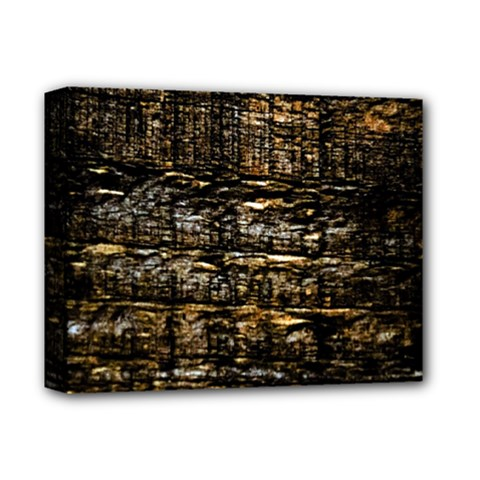 Wood Texture Dark Background Pattern Deluxe Canvas 14  X 11