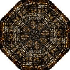 Wood Texture Dark Background Pattern Hook Handle Umbrellas (medium) by Nexatart