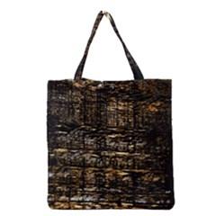Wood Texture Dark Background Pattern Grocery Tote Bag