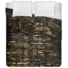 Wood Texture Dark Background Pattern Duvet Cover Double Side (california King Size) by Nexatart