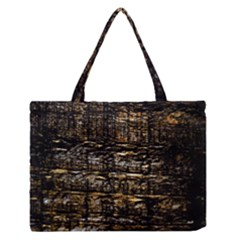 Wood Texture Dark Background Pattern Medium Zipper Tote Bag by Nexatart