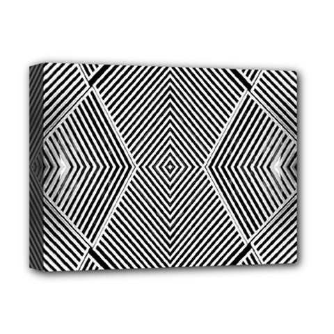 Black And White Line Abstract Deluxe Canvas 16  X 12   by Nexatart