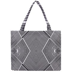 Black And White Line Abstract Mini Tote Bag