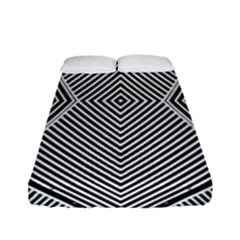 Black And White Line Abstract Fitted Sheet (full/ Double Size)