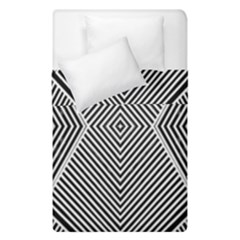 Black And White Line Abstract Duvet Cover Double Side (single Size) by Nexatart
