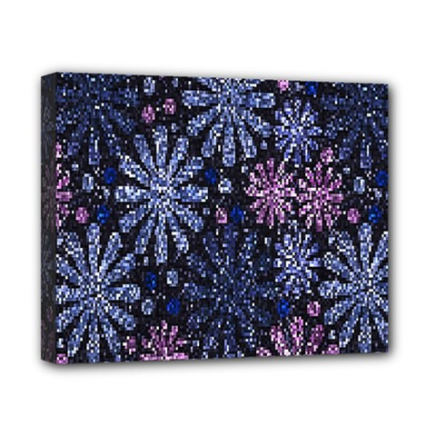 Pixel Pattern Colorful And Glittering Pixelated Canvas 10  X 8