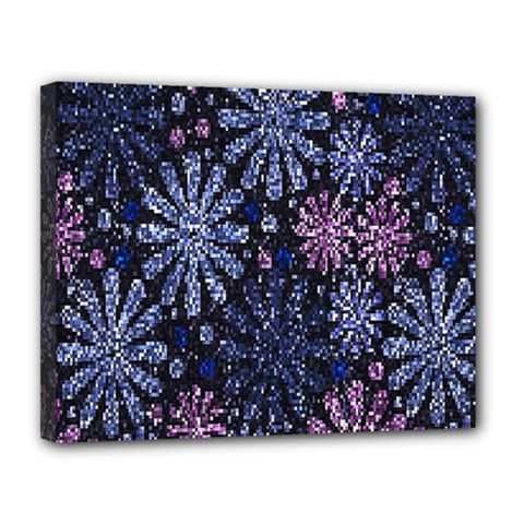 Pixel Pattern Colorful And Glittering Pixelated Canvas 14  X 11