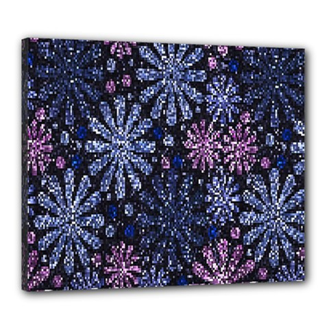 Pixel Pattern Colorful And Glittering Pixelated Canvas 24  X 20