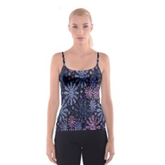 Pixel Pattern Colorful And Glittering Pixelated Spaghetti Strap Top
