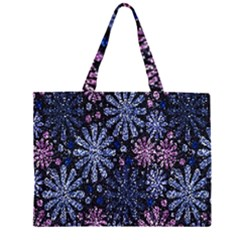 Pixel Pattern Colorful And Glittering Pixelated Zipper Large Tote Bag by Nexatart