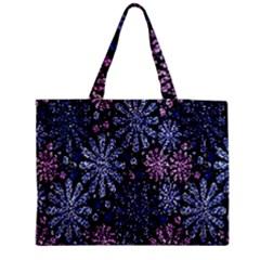 Pixel Pattern Colorful And Glittering Pixelated Medium Zipper Tote Bag by Nexatart