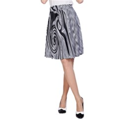 Abstract Swirling Pattern Background Wallpaper A Line Skirt