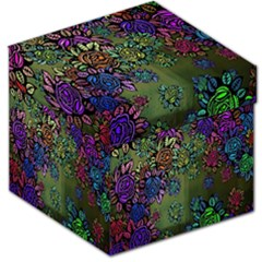 Grunge Rose Background Pattern Storage Stool 12
