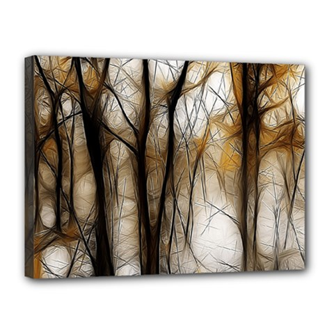 Fall Forest Artistic Background Canvas 16  X 12  by Nexatart