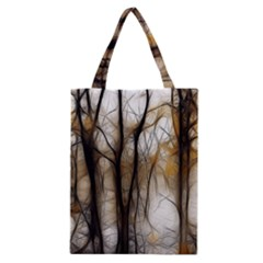 Fall Forest Artistic Background Classic Tote Bag by Nexatart
