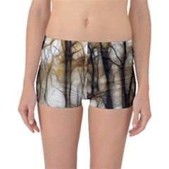 Fall Forest Artistic Background Boyleg Bikini Bottoms