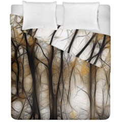 Fall Forest Artistic Background Duvet Cover Double Side (california King Size)