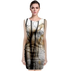 Fall Forest Artistic Background Classic Sleeveless Midi Dress by Nexatart