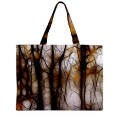 Fall Forest Artistic Background Medium Tote Bag by Nexatart