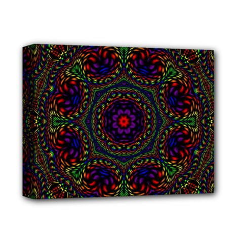 Rainbow Kaleidoscope Deluxe Canvas 14  X 11