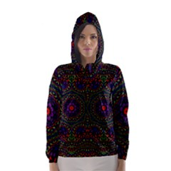 Rainbow Kaleidoscope Hooded Wind Breaker (women)