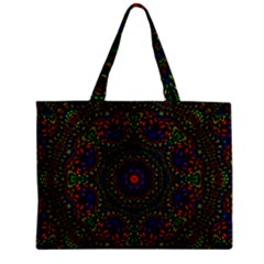 Rainbow Kaleidoscope Zipper Mini Tote Bag