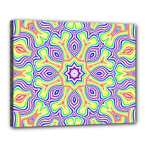 Rainbow Kaleidoscope Canvas 20  X 16  by Nexatart