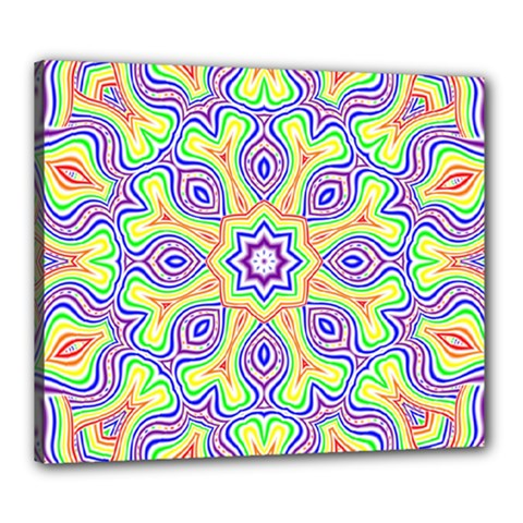 Rainbow Kaleidoscope Canvas 24  x 20