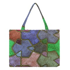 Background With Color Kindergarten Tiles Medium Tote Bag by Nexatart