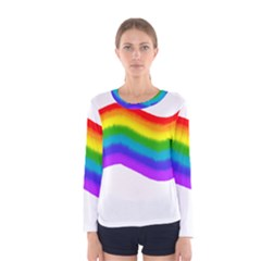 Watercolour Rainbow Colours Women s Long Sleeve Tee