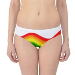 Watercolour Rainbow Colours Hipster Bikini Bottoms