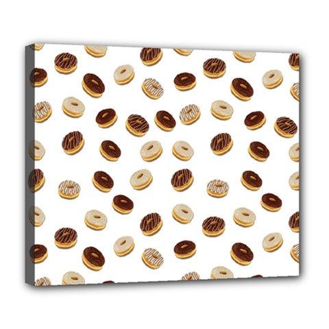 Donuts Pattern Deluxe Canvas 24  X 20   by Valentinaart