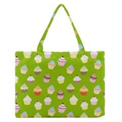 Cupcakes Pattern Medium Zipper Tote Bag by Valentinaart