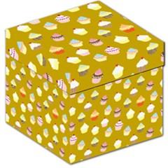 Cupcakes Pattern Storage Stool 12   by Valentinaart